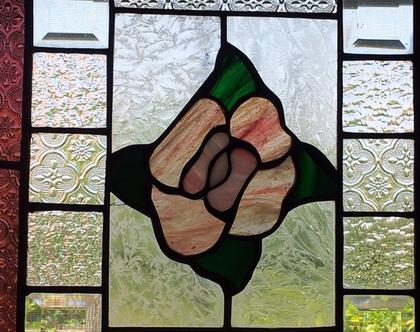חלון זכוכית ויטראז עבודת יד לבית