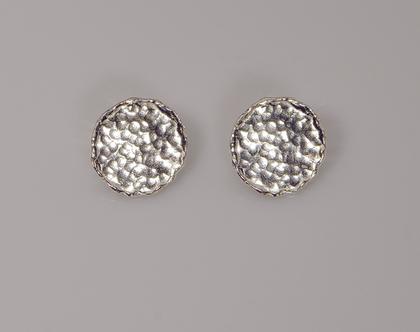 עגילים צמודים מטבע כסף 925