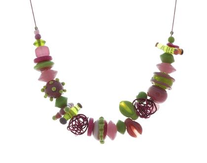 דגם טליה - חרוזי זכוכית צבעוני