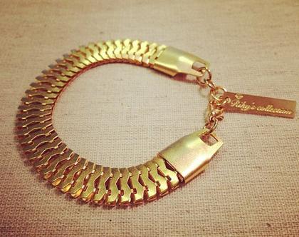 צמיד גורמט בצבע זהב גולדפילד עדין לערב משלוח חינם