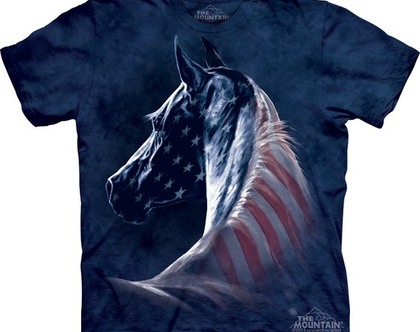 חולצת סוס פטריוטי מבוגרים
