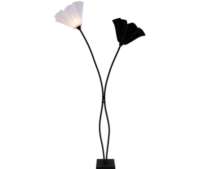 גוף תאורה פרח שני קנים