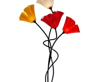 מנורת פרח ארבעה קנים