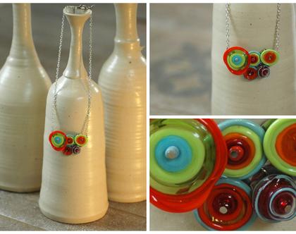 דגם אריאל צבעוני -חרוזי זכוכית
