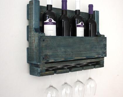 בר יין מעוצב ממשטח- עץ ממוחזר- קטן