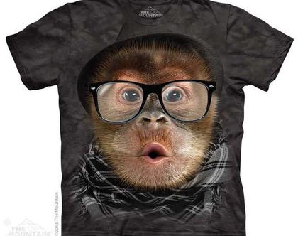 חולצת HIPSTER ORANGUTAN BABY מבוגרים