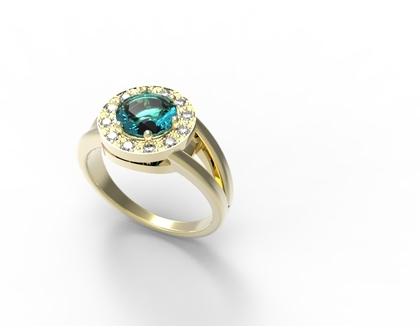 טבעת אירוסין- 24 קארט