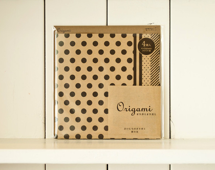 נייר אוריגמי קראפט שחור/חום, נייר יפני