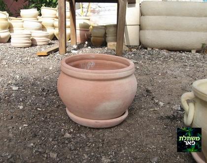 כלי חרס ערבי לשתילה בצבע חמרה