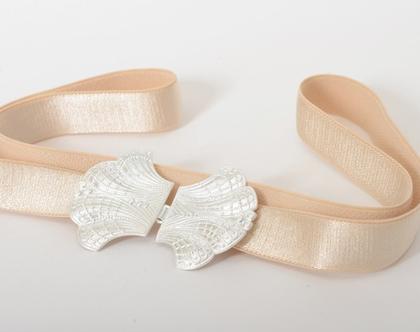 חגורת מותן ניוד - אבזם כסף - חגורה לשמלה