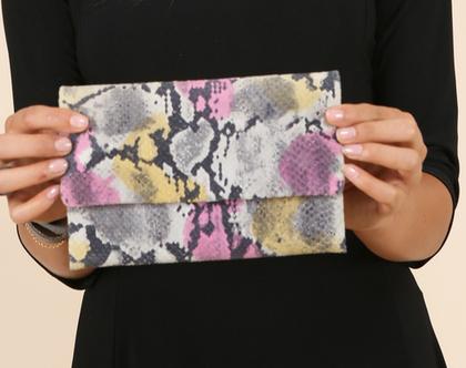 ארנק עור צבעוני בטקסטורה וצבעוניות ייחודית