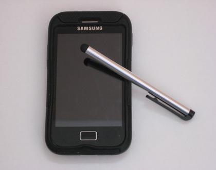עט סטילטו כסוף למסכי טאץ' - טאבלט, טלפון, מחשב