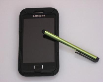 עט סטילטו ירקרק למסכי טאץ' - טאבלט, טלפון, מחשב
