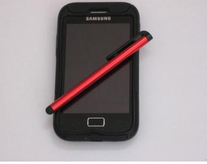 עט סטילטו אדום למסכי טאץ' - טאבלט, טלפון, מחשב