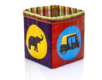 קופסה לאחסון צעצועים,קופסה קטנה וצבעונית ,קופסה לחדרי ילדים ,איחסון- דגם בועות