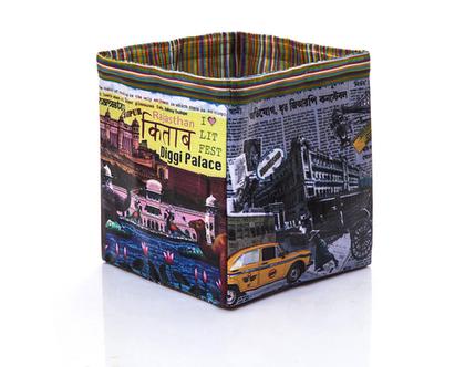 קופסת אחסון מתקפלת,קופסה מעוצבת,קופסה למגזינים,קופסאות איחסון