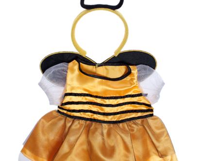 """בגדי בובה שמלת דבורה עם מחושים לבובה 40 ס""""מ"""