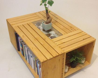 שולחן סלון מעוצב מארגזים דגם ״רינה״-גוון 10