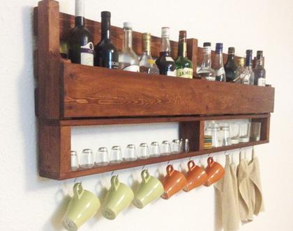 בר יין וויסקי מעוצב ממשטח- עץ ממוחזר 140 אורך