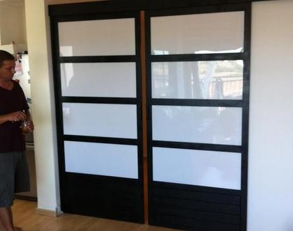 דלתות הזזה בסגנון יפני(מחיר לפי מפרט)