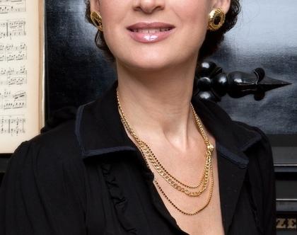 עגילי ספירלה - זהב ושחור - במבצע - עגילים זהב לאשה