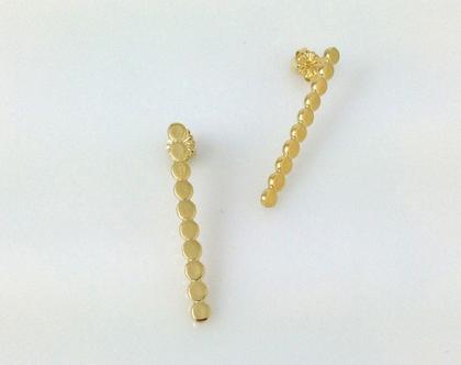 עגילי זהב צמודים, עגילים צמודים עיגולים, עגילי צמודים לערב, עגילי זהב מיוחדים, עגילי זהב אלגנטיים, עגילים זהב מתנה לאשה