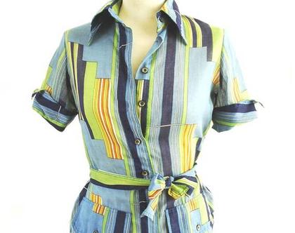 חולצת וינטג' חולצה מכופתרת חולצה מחויטת חולצה מיוחדת חולצה עם שארוולים גדעון אובורזון