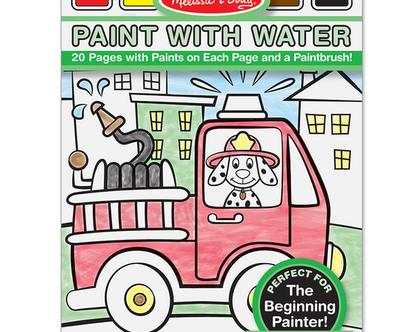 חוברת צביעה עם מים – כלי רכב
