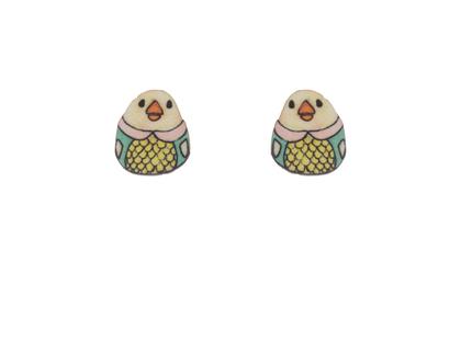 עגילי אפרוחים מתוקים/ עגילים צמודים/ עגילים מאוירים