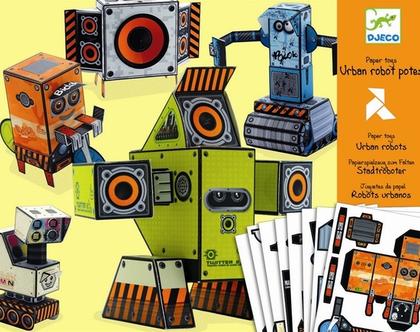 צעצועי נייר- רובוטים