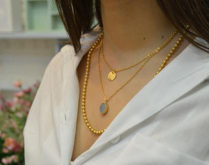 שרשרת זהב, סט שלוש שרשראות מצופות זהב
