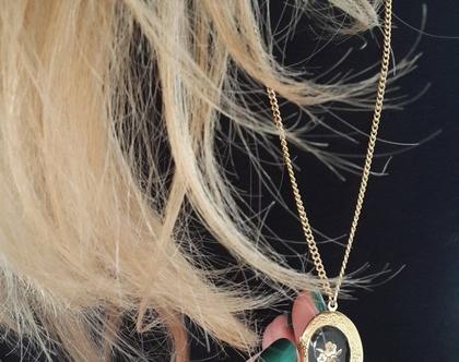 שרשרת תליון נפתח לתמונה - לוקט פרחים זהב - שרשראות לתמונה - תליון זהב - תליון בסגנון רטרו - שרשרת וינטג' - תליון רומנטי - מתנה לאישה ללידה
