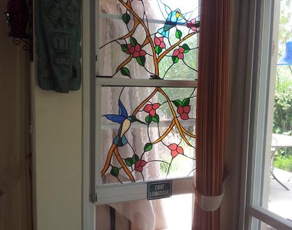 עיצוב ויטראז עבודת יד לחלון זכוכית פרופיל בלגי