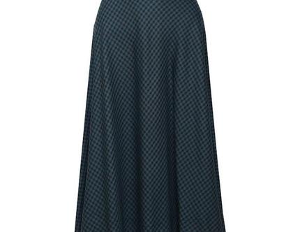 חצאית מידי קימברידג' ירוקה