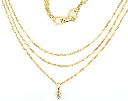 שרשרת זהב ויהלום, שרשרת יהלום קלאסית, שרשרת סוליטר