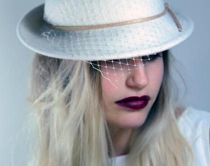כובע לכלה, כובע לבן לאירוע, כובעים לכלה