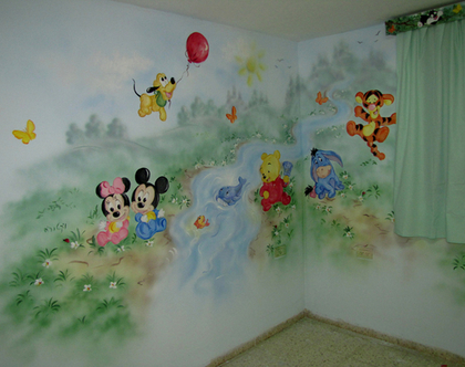 ציור קיר תינוקות דיסני לתינוק/ תינוקת