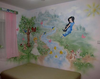 ציור קיר פיות