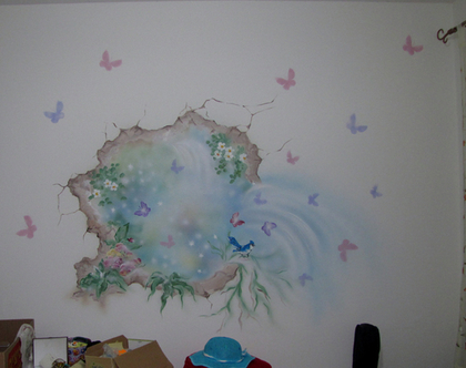 ציור קיר אווירה קסומה