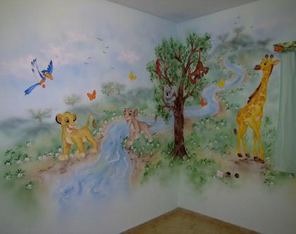 ציור קיר מלך האריות