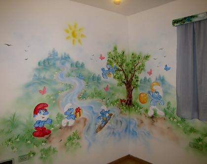ציור קיר דרדסים