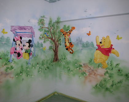 ציור קיר דמויות מאגדות