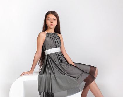 שמלת שרוך לנערות ובת מצווה בעיצוב שירן סבוראי