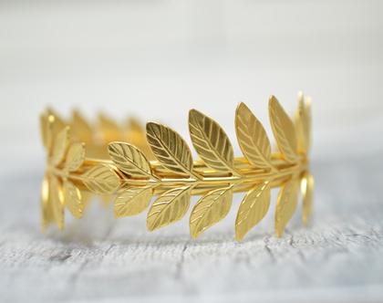 צמיד זהב לחתונה | צמיד מצופה זהב לכלה