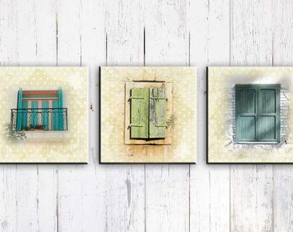 חלונות - תמונות אווירה על קנבס