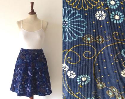 חצאית קורדרוי חצאית פרחונית חצאית כחולה חצאית מידי