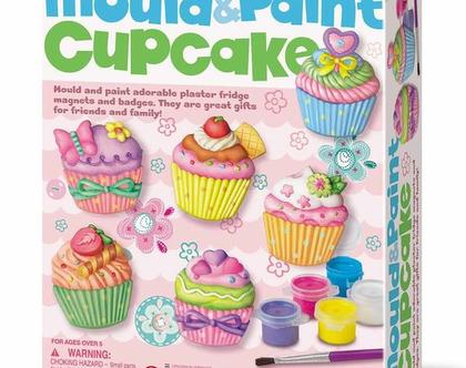 יצירה בגבס ומגנט - עוגות מאפינס