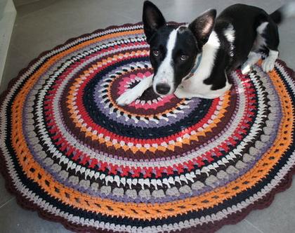 שטיח סרוג צבעוני 1.20מ'