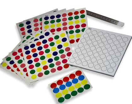 משחק העתקת דגמים - עיגולים צבעוניים
