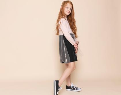 שמלת אירועים לילדות, ורוניק טול ,שחור-ורוד